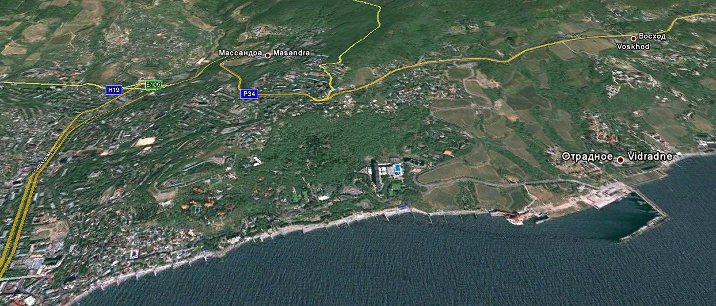 Карта Крыма - подробная схема и со спутника: с улицами